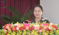 Parlamentspräsidentin Nguyen Thi Kim Ngan trifft Wähler in Can Tho