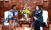 Vizestaatspräsidentin Dang Thi Ngoc Thinh empfängt die Generalsekretärin der internationalen Organisation der Frankophonie