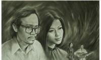 Portraits von Trinh Cong Son mit Liebe seiner Musik malen