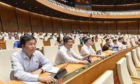 Sitzung des Parlaments: Eindruck der Diskussion