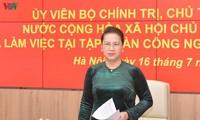 Parlamentspräsidentin Nguyen Thi Kim Ngan besucht militärischen Fernkommunikationskonzern