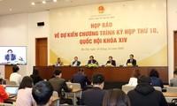 Pressekonferenz über Verlauf der kommenden Parlamentssitzung