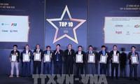 Ehrung der zehn vietnamesischen Unternehmen für Informationstechnologien