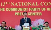 Pressekonferenz über Parteitag