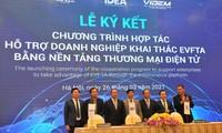 Unterstützung bei elektronischem Handel, damit Unternehmen EVFTA effizienter umsetzen können