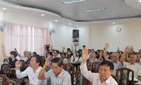 Konferenz der Wählermeinungen über Kandidaten