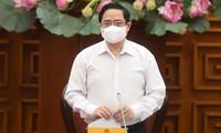 Dringliche Sitzung der Regierung über Maßnahmen zur Vorbeugung und Bekämpfung der COVID-19-Pandemie