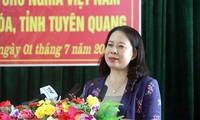 Vizestaatspräsidentin Vo Thi Anh Xuan auf Arbeitsbesuch in Tuyen Quang