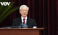 KPV-Generalsekretär Nguyen Phu Trong nimmt an Konferenz der KPC und Volksparteien weltweit teil