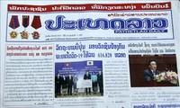 Laotische Presse berichtet ausführlich über Besuch des vietnamesischen Staatspräsidenten in Laos