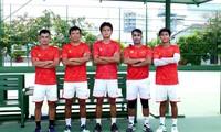 Vietnamesische Tennismannschaft der Männer bei Davis-Cup in Jordanien