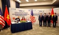 Vereinbarungen zur Zusammenarbeit zwischen Fluggesellschaften der USA und Vietnams