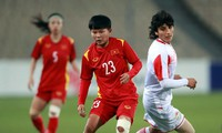 Vietnamesiscche Fußballmannschaft der Frauen siegt gegen Tadschikistan 7:0