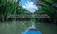 Junge Arbeitskräfte für Projekte mit Klimawandel in vietnamesischen Mekong-Delta