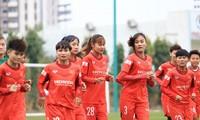 Vietnamesische Fußballmannschaft der Frauen trifft auf Japan und Südkorea