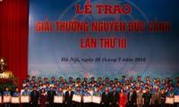 제3회 Nguyen Duc Canh상; 우수한 노동자들에 값진 보상