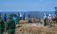 Construction of flagpole starts in Ly Son border island