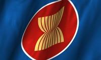 Izamiento de bandera de la Asean en Países Bajos por el 51 aniversario de su fundación