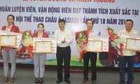 Da Nang reconoce aportes de sus deportistas a logros de Vietnam en Asiad 2018
