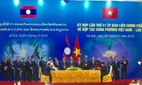 Celebran Reunión 41 del Comité Intergubernamental Vietnam-Laos