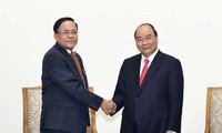 Premier vietnamita recibe al ministro de Cooperación Internacional de Myanmar