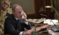 Líderes de Alemania, Rusia y Francia debaten temas de interés común