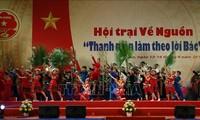 """Efectúan campamento """"Jóvenes siguen las enseñanzas del presidente Ho Chi Minh"""" en Tan Trao"""