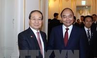Premier vietnamita recibe al presidente de Asociación de Amistad Corea del Sur-Vietnam