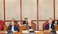 Revisan complemento de textos para XIII Congreso Nacional del Partido Comunista de Vietnam