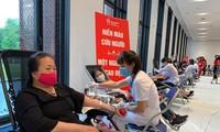 """Celebran el programa de donación de sangre """"Gotas rojas de gratitud"""" en Vietnam"""