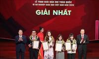 """Entregan premios periodísticos nacionales """"Por la causa de la educación en Vietnam"""""""