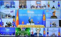 Celebran la Reunión en línea de altos funcionarios de Defensa de la Asean