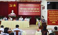 La presidenta de la Asamblea Nacional se reúne con los votantes de Can Tho
