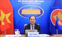 Vietnam participa en la conferencia virtual de altos funcionarios Asean-India