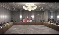Jefes diplomáticos de Estados Unidos, Japón y Corea del Sur mantienen diálogos en Londres
