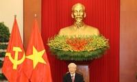 Líder del Partido Comunista de Vietnam sostiene conversación telefónica con presidente cubano