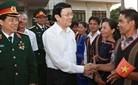 Presidente vietnamita en la provincia altiplana de Gia Lai