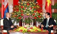 Dirigentes vietnamitas abogan por fortalecer relaciones Vietnam-Cambodia