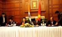 Vietnam e India concretan voluntad de afianzar relaciones en economía y comercio