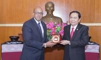 VFF President receives Cuban ambassador Herminio Lopez Diaz