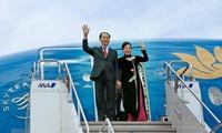 Tran Dai Quang주석 및 부인 일본 국빈방문