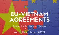 국제 언론, 베트남 국회의 EVFTA  승인을 적극적으로 평가