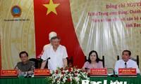 응우옌 화 빈 최고인민법원장, 박리에우에서 업무회의