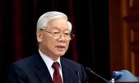 응우옌 푸 쫑 서기장 – 국가주석 : 국가를 새로운 차원으로 격상시키는 8차 당대회 준비와 진행