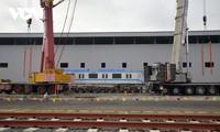 1호 메트로 열차, 차량기지에서 설치 및 연결 완료