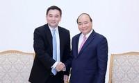 Le Premier ministre reçoit le fondateur de Gulf Energy (Thaïlande)