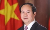 Le président Trân Dai Quang répond à la presse égyptienne