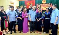 Trân Quôc Vuong rencontre l'électorat du district de Mù Cang Chai