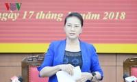 Déplacement de la présidente de l'AN à Thai Binh