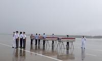 Rapatriement d'ossements de soldats américains